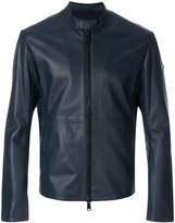 Emporio Armani leather racer jacket