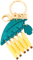 Sophie Hulme bananas keychain - women - Leather/Brass/plastic - One Size