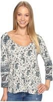 Lucky Brand Paisley Swing Top