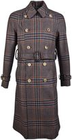 Gucci Check Wool Cashmere Trench