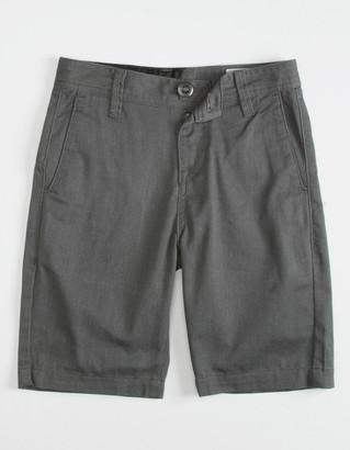 Volcom Frickin Drifter Boys Charcoal Shorts