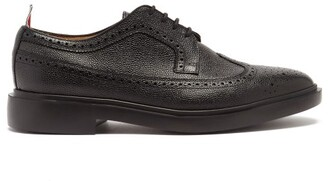 Thom Browne Pebble Grained Leather Longwing Brogues - Black