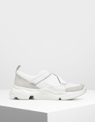 Charles & Keith Velcro Slip-On Sneakers