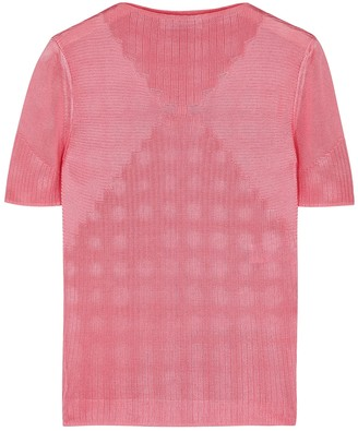Paco Rabanne Pink Intarsia Fine-knit Top