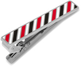 Ox and Bull Trading Co. Varsity Stripes Black, Red, and White Tie Clip