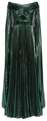 ZUHAIR MURAD Metallic Off-The-Shoulder Gown