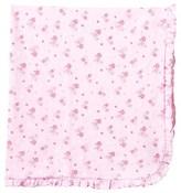 Kissy Kissy Pink Floral Print Ruffle Pram Blanket