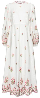 Zimmermann Poppy embroidered linen dress