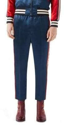 Gucci Satin Varsity Track Pants