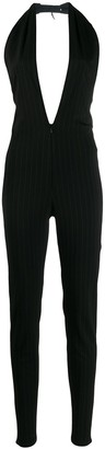 Jean Paul Gaultier Pre Owned 1990's Pinstriped Fitted Jumpsuit