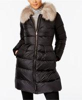 Kate Spade Faux-Fur-Trim Skirted Puffer Coat