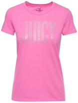 Juicy Couture Logo Crystal Couture Short Sleeve Tee