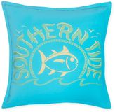 Southern Tide® Skipjack Chino Logo Square Throw Pillow