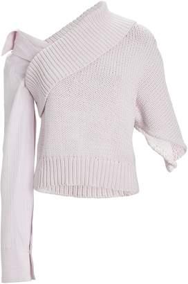 Hellessy Iris Asymmetric Poplin Sleeve Sweater