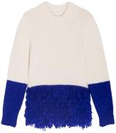 DELPOZO Bicolour Fringed Sweater