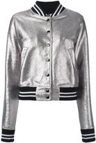 R 13 metallic bomber jacket