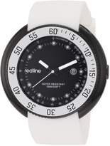 Redline Red Line Men's Diver Dial White Silicone Watch RL-50039-BB-01-WHT