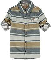 Scotch Shrunk STRIPED DOUBLE-FACED COTTON FLANNEL SHIRT