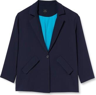 Armani Exchange Women's Textured Twill Business Casual Blazer
