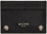Moschino Black Leather Card Holder