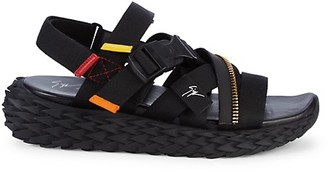 Giuseppe Zanotti Mixed Media Sandals