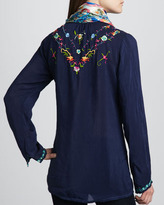 Johnny Was Collection Victory Embroidered Blouse