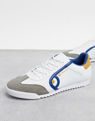 Ben Sherman target sneaker in white