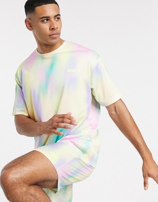 Asos 4505 4505 training oversized t-shirt with pastel print-Multi
