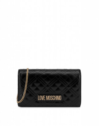Love Moschino Laminated Evening Bag Woman Black Size U It - (one Size Us)