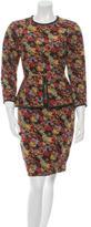 Yigal Azrouel Leather-Trimmed Peplum Dress