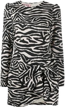 Gina Zebra-Print Mini Dress