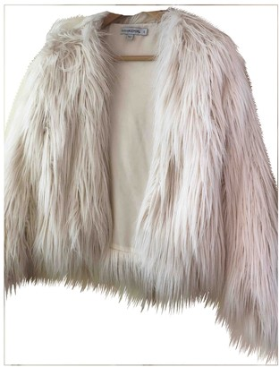 Finders Keepers White Faux fur Jacket for Women
