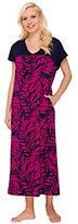 Stan Herman Paradise Palm Color Block Jersey Knit Maxi Dress