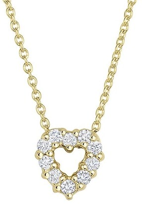 Roberto Coin Tiny Treasures 18K Yellow Gold & Diamond Heart Pendant Necklace
