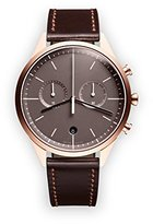 Uniform Wares C39 Quartz Watch with Grey Chronograph Dial with Dark Brown Leather Strap