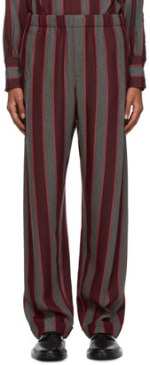 Wales Bonner Red and Grey Roots Lounge Pants
