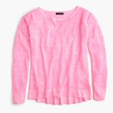 J.Crew Cool-dyed linen pocket crewneck sweater