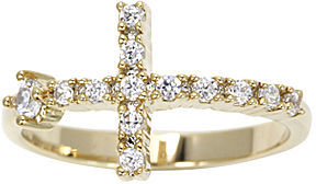 JCPenney city x city Cubic Zirconia Cross Ring