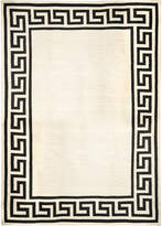 Jonathan Adler Black Greek Key Border Reversible Peruvian Flat Weave Rug