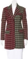 Dolce & Gabbana Plaid Short Coat
