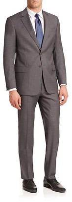 Armani Collezioni Virgin Wool Pinstriped Suit
