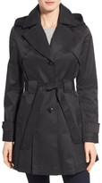 Via Spiga Women's 'Scarpa' Hooded Single Breasted Trench Coat
