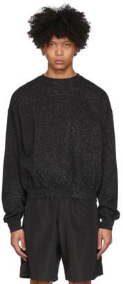 Ottolinger Black and Grey Sprinkle Crewneck Sweatshirt