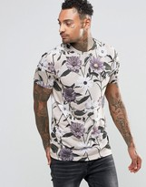 Criminal Damage T-Shirt With All Over Floral Print