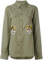 Laneus embroidered tiger shirt - men - Tencel - 46