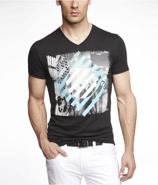 Express Fitted Graphic Tee - Neon Dj