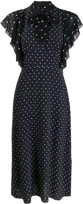 Karl Lagerfeld Paris pussy bow dotted dress