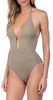 LaBlanca Women's La Blanca Deco Halter One-Piece Swimsuit