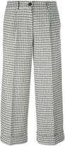 P.A.R.O.S.H. plaid cropped trousers - women - Cotton/Acrylic/Polyester/Wool - S