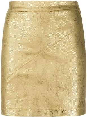 Patrizia Pepe Metallic-Effect Mini Skirt